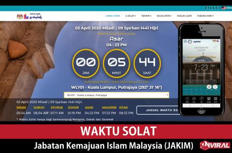 Waktu Solat Jabatan Kemajuan Islam Malaysia (JAKIM)