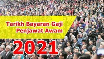 Jadual gaji kerajaan 2021