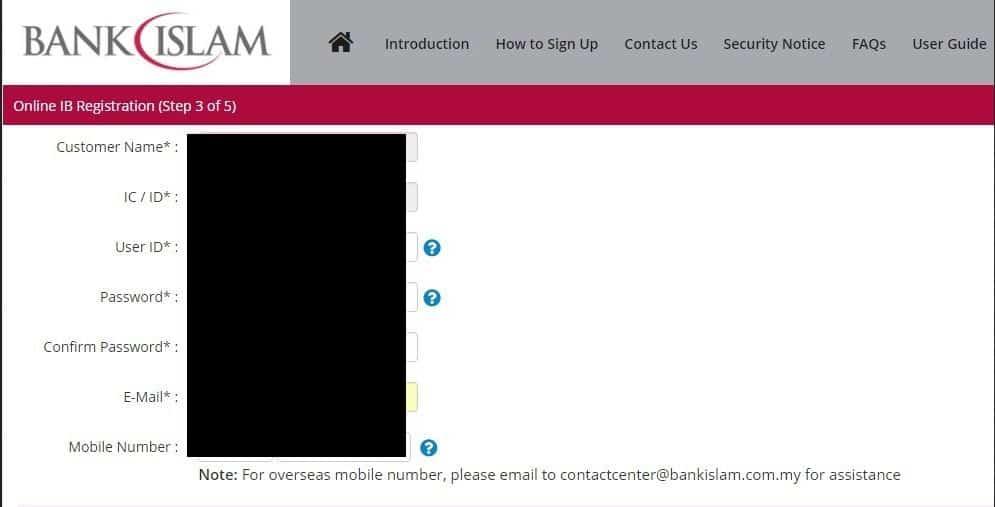 daftar bank islam online
